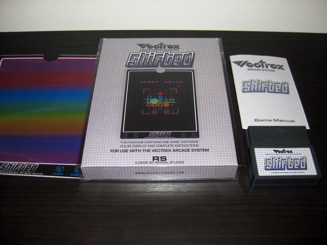 Vectrex homebrew packaging - Shifted
