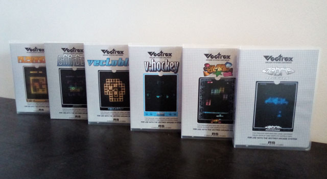 New vectrex games packaging